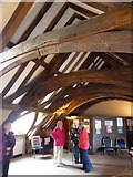 SX9192 : Ceiling and roof of refectory of St Nicholas Priory, Exeter by David Smith