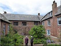 SX9192 : Courtyard of St Nicholas Priory, Exeter by David Smith
