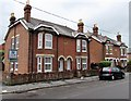 SU3521 : Edwardian houses in Alma Road, Romsey by Jaggery