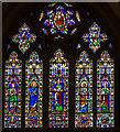 SU8504 : West window (upper), Chichester Cathedral by Julian P Guffogg