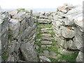 NM0449 : Steps in Dùn Mòr broch by M J Richardson