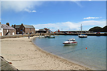 NO8785 : Beach in Stonehaven Harbour by John Allan