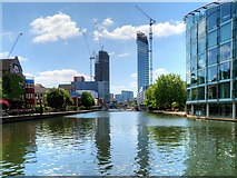 TQ3283 : City Road Basin by David Dixon