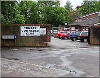 SU3521 : Entrance to Romsey Comrades Club by Jaggery