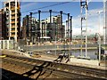 TQ2983 : King's Cross Gasholder Number 8 viewed from HS1 by David Dixon