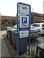 TM4462 : Valley Road Car Park sign by Adrian Cable