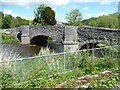 SH9270 : Bridge over the Elwy, Llanfair Talhaiarn, west side by Christine Johnstone