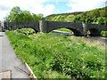 SH9270 : Bridge over the Elwy, Llanfair Talhaiarn, east side by Christine Johnstone