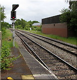 SU3521 : Railway signal E884, Romsey by Jaggery