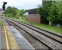 SU3521 : Quarter-mile post at Romsey railway station by Jaggery
