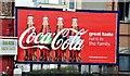 J3373 : Coca-Cola poster, Belfast (June 2015) by Albert Bridge