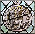 TM4889 : St John the Evangelist, Barnby - Roundel by John Salmon