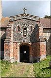 TM3787 : St Andrew, Ilketshall St Andrew - Porch by John Salmon