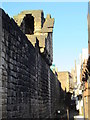 NZ2464 : Cobbled alley behind the West Walls by Mike Quinn