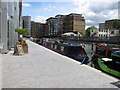 TQ2681 : Louisiana - narrowboat in Paddington Basin by David Hawgood