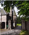 NO5298 : East Lodge gate, Aboyne Castle by Stanley Howe