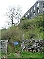 SH5443 : The entrance to Melin Llech Ynyspandy Slate Mill, at Pont y Pandy by Christine Johnstone