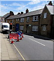ST6332 : When red light shows wait here, Station Road, Castle Cary by Jaggery