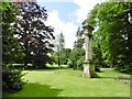 ST9168 : Lacock Abbey, sphinx by Mike Faherty