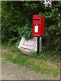 TM1057 : 1 Red Houses Postbox by Adrian Cable