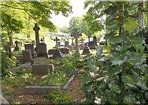 SE1017 : Salendine Nook Baptist Church Graveyard - viewed from Moor Hill Road by Betty Longbottom