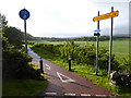 NX4163 : Cycle path beside the A714 by Oliver Dixon