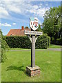TL9450 : Village sign at Preston St. Mary by Adrian S Pye