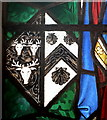 SJ3165 : Stained-glass hatchment by Bill Harrison