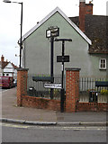 TM0855 : Needham Market Town sign by Adrian Cable