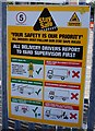 TA1029 : Safety notice at Travis Perkins, Hull by Ian S
