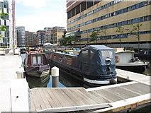 TQ2681 : Blue Iris - narrowboat in Paddington Basin by David Hawgood