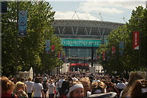 TQ1986 : View down Olympic Way towards Wembley Stadium by Robert Lamb