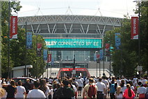 TQ1986 : View down Olympic Way towards Wembley Stadium #2 by Robert Lamb