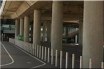 TQ1985 : View of the walkway beneath the ramp at Wembley Stadium by Robert Lamb