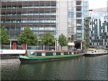 TQ2681 : Zoria - narrowboat in Paddington Basin by David Hawgood