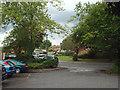 SP1582 : Cophams Close beyond a residents' car park, Olton by Robin Stott