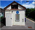 ST5910 : Yetminster railway station blue plaque by Jaggery