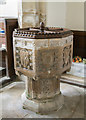 TF1135 : Font, St Andrew's church, Horbling by J.Hannan-Briggs