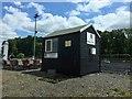 TQ1557 : Pachesham Equestrian Centre: judge's box at Berta Arena by Jonathan Hutchins