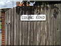 TM1844 : Goring Road sign by Adrian Cable