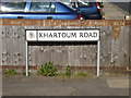 TM1745 : Khartoum Road sign by Adrian Cable