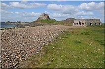 NU1341 : Limekilns and Lindisfarne Castle by Philip Halling