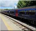 SY5997 : First Great Western train at  Maiden Newton railway station by Jaggery