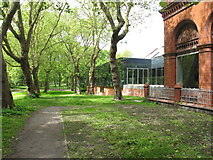SJ8495 : Whitworth Park and gallery extension by David Hawgood
