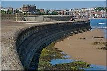 TA0487 : Sea wall, Scarborough by Paul Harrop