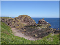 NT9267 : Headland and islet just south of St Abbs village by Oliver Dixon