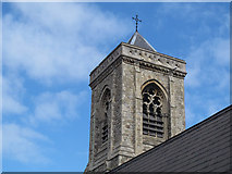 TQ2772 : Holy Trinity church, Upper Tooting: tower by Stephen Craven