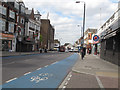 TQ2772 : Cycle superhighway 7, Upper Tooting Road by Stephen Craven