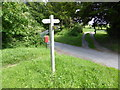 TQ3615 : Footpath Sign Chapel Lane, East Chiltington by PAUL FARMER