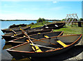 TA1947 : Rowing boats, Hornsea Mere by JThomas